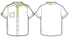 Summer shirt with short sleeves. Front and back view of summer shirt stock illustration