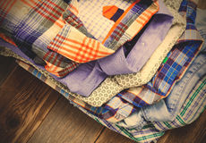 Summer shirts in a pile Stock Photos