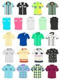 Summer shirts. Set of summer mens shirts with short sleeves Stock Photos