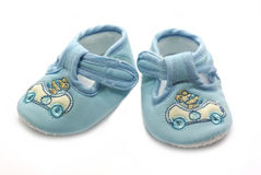 Summer shoe for newborn baby Royalty Free Stock Photo