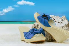 Summer shoes Royalty Free Stock Image
