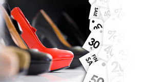 Summer shoes. Clearance sale Stock Images