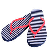 Summer shoes rubber flip flops isolated stock photo