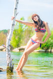 Summer shooting glamorous girl Royalty Free Stock Photo