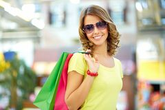 Summer shopper Royalty Free Stock Image