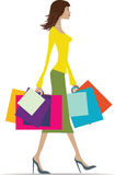 Summer shopping Stock Image