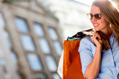 Summer shopping Stock Photography
