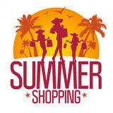 Summer shopping design template . Royalty Free Stock Photography