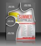 Summer Shopping Flyer Design Stock Photography