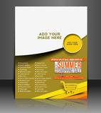 Summer Shopping Flyer Royalty Free Stock Images