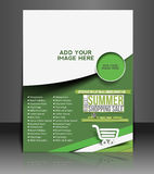 Summer Shopping Flyer. & Poster Template Design Stock Photography