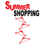 Summer shopping with hangers Stock Photo