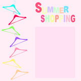 Summer shopping with hangers Stock Image
