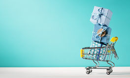 Summer shopping theme Royalty Free Stock Photos