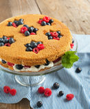 Summer shortcake. Royalty Free Stock Photo