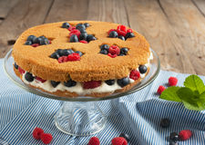 Summer shortcake. Selective focus Stock Images