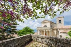 Summer shot of of Basilica Del Santo, San Marino Royalty Free Stock Photo