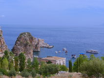 Summer in the Sicilian coast - Scopello Royalty Free Stock Image