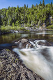 Summer Side of Life. The oncoming flow at the top of Silver Falls Royalty Free Stock Images