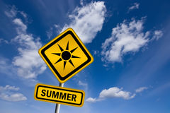 Summer sign stock illustration