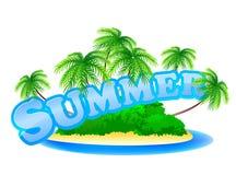 Summer sign royalty free illustration
