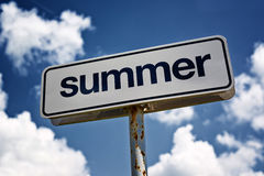 Summer sign Royalty Free Stock Images