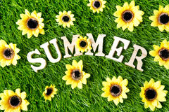 Summer sign background Royalty Free Stock Photography