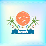 Summer sign, retro typography, sea and beach logo Stock Image