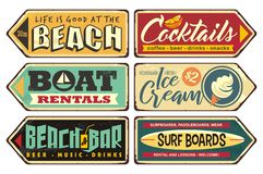 Free Summer Signs Collection Stock Images - 138279394