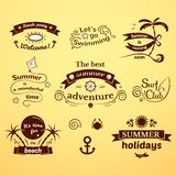 Summer signs set Royalty Free Stock Photos