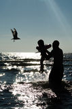 Summer silhouette Stock Photography