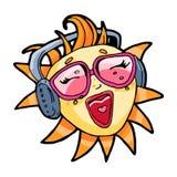 Summer singing sun Stock Photo