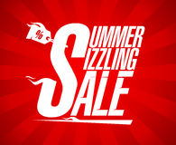 Summer sizzling sale vector design Royalty Free Stock Photography