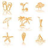 Summer sketches Royalty Free Stock Photography