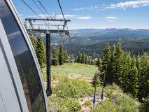 Summer on the ski lift Stock Photos