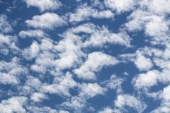 Summer Skies. Britain is experiencing a prolonged summer and beautiful skies, high heat and in some areas - drought. Over head the endless blue make the heart stock photography