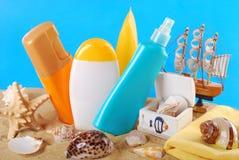 Summer skin care Stock Photos