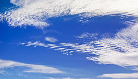 Summer Sky 03. Blue sky with soft clouds royalty free stock images
