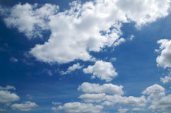 Summer sky. Summer blue sky and puffy clouds Royalty Free Stock Photography