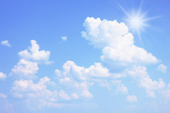 Summer sky. Bright summer sky with a sun Royalty Free Stock Images