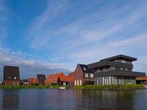 Summer sky above suburban residential area Stock Photography