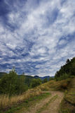 Summer sky in Apuseni Mountains Royalty Free Stock Photo