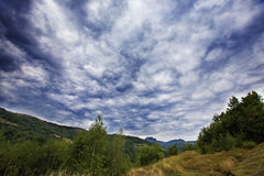 Summer sky in Apuseni Mountains Stock Photos