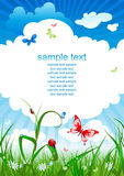Summer sky background stock illustration