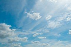 Summer Sky. Background - Blue Summer Sunny Sky stock images