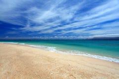 Summer sky and beautiful beach of Okinawa Royalty Free Stock Photography
