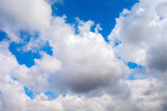 Summer sky. Beautiful blue and white sky with white clouds Royalty Free Stock Photography