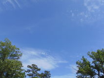 Summer Sky. Blue summer sky with white clouds royalty free stock photography