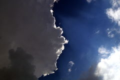 Summer sky. Bright clouds on the summer sky Stock Photo