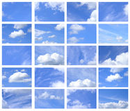 Summer sky and clouds. Set, collection Royalty Free Stock Images